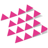 Hot Pink Triangles Vinyl Wall Decals