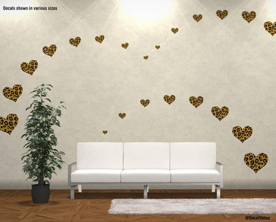 Leopard Print Heart Decal Stickers | Decal Venue Part 49
