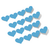 Ice Blue Hearts Vinyl Wall Decals