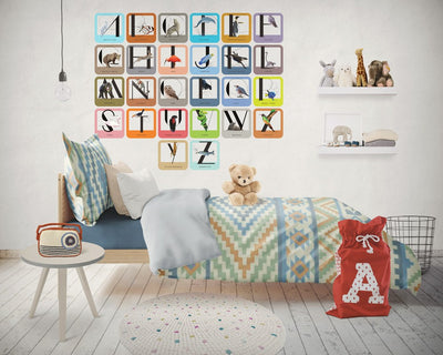 Alphabet Letters Animal Wildlife Set of 26 Decals | Letters & Numbers | DecalVenue.com