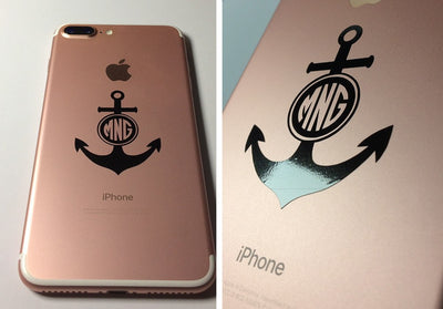 Anchor Monogram Initials Decal-Custom / Personalized-Decal Venue