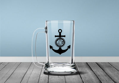 Anchor Monogram Initials Decal | Custom / Personalized | DecalVenue.com