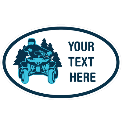 Personalized ATV Oval Decal [002] | Custom / Personalized | DecalVenue.com