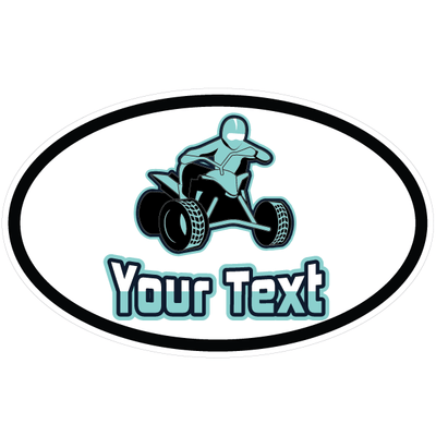 Personalized ATV Oval Decal [003] | Custom / Personalized | DecalVenue.com