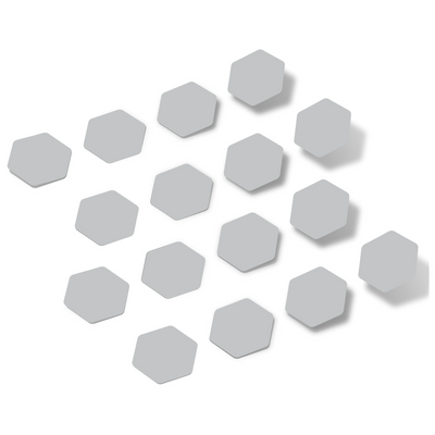 Light Grey Hexagon Vinyl Wall Decals