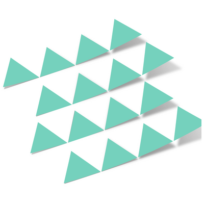 Mint Green Triangles Vinyl Wall Decals