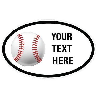 Personalized Baseball Oval Decal-Custom / Personalized-Decal Venue