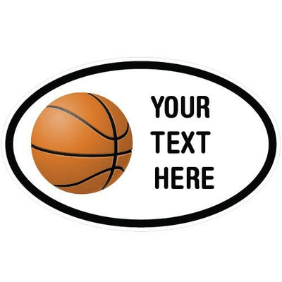 Personalized Basketball Oval Decal-Custom / Personalized-Decal Venue