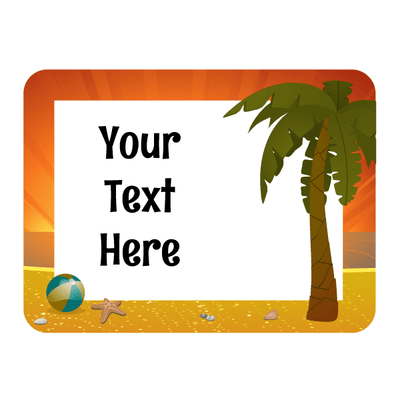 Personalized Palm Tree Beach Decal | Custom / Personalized | DecalVenue.com