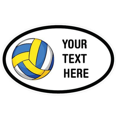 Personalized Beach Volleyball Oval Decal | Custom / Personalized | DecalVenue.com