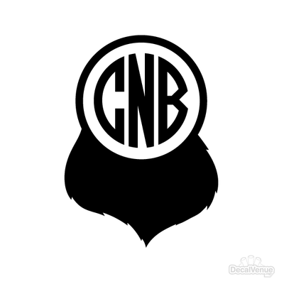 Beard Monogram Initials Decal