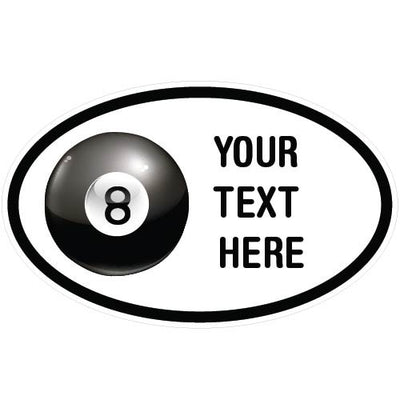 Personalized Billiards Oval Decal | Custom / Personalized | DecalVenue.com