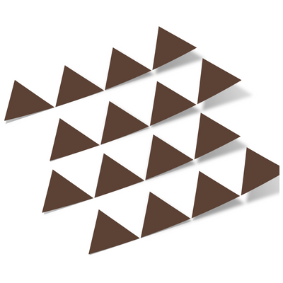 Chocolate Brown Triangles Vinyl Wall Decals
