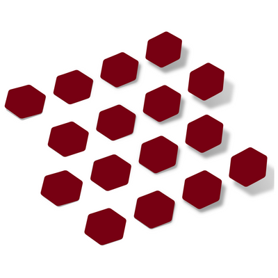 Burgundy Hexagon Vinyl Wall Decals