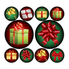 Christmas Presents & Ribbons Polka Dot Circle Decals | Holidays & Events | DecalVenue.com