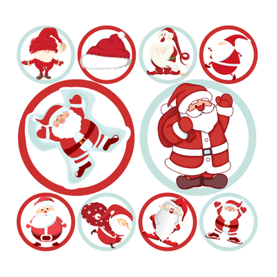 Christmas Santa Polka Dot Circle Decals | Holidays & Events | DecalVenue.com