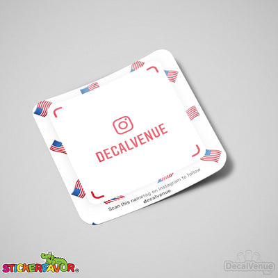 Custom Social Media Username Nametag / Snapcode Vinyl Decal Stickers | Custom / Personalized | DecalVenue.com