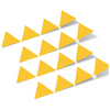 Yellow Triangles Vinyl Wall Decals