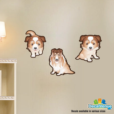 Collie Dog Set of 3 Decals | Animals | DecalVenue.com