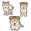 Akita Dog Set of 3 Decals | Animals | DecalVenue.com