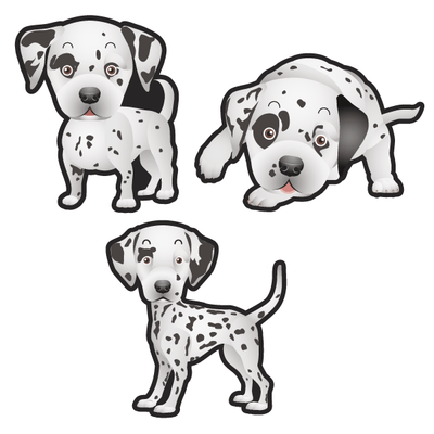 Dalmation Dog Set of 3 Decals | Animals | DecalVenue.com