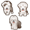 Sheepdog Dog Set of 3 Decals-Animals-Decal Venue