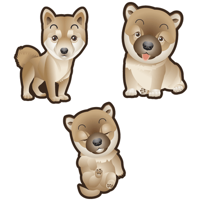 Shiba Inu Dog Set of 3 Decals | Animals | DecalVenue.com