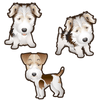 Wire Fox Terrier Dog Set of 3 Decals-Animals-Decal Venue