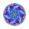 Dolphin Mandala Decal-Shapes & Patterns-Decal Venue