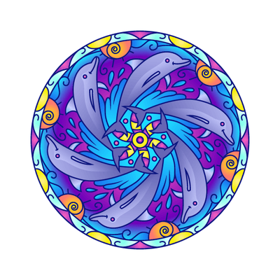 Dolphin Mandala Decal | Shapes & Patterns | DecalVenue.com