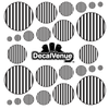 Black and White Stripes Polka Dot Circles Decals | Polka Dot Circles | DecalVenue.com