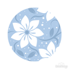 Blue Floral Pattern Polka Dot Circles Reusable Wall Decals | Shapes & Patterns | DecalVenue.com