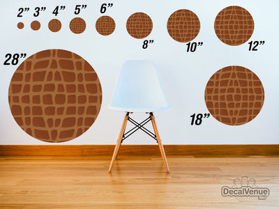 Brown Crocodile Skin Pattern Polka Dot Circles Reusable Wall Decals | Shapes & Patterns | DecalVenue.com