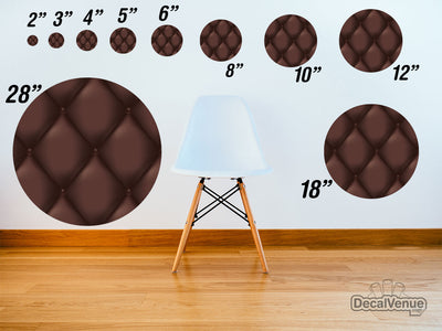 Brown Quilt Pattern Polka Dot Circles Reusable Wall Decals