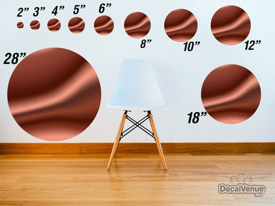 Brown Satin 002 Pattern Polka Dot Circles Reusable Wall Decals | Shapes & Patterns | DecalVenue.com