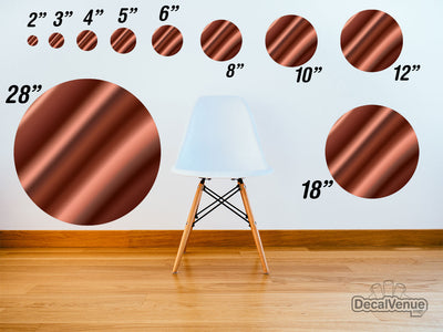 Brown Satin Pattern Polka Dot Circles Reusable Wall Decals