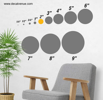 2 inch Polka Dot Circles Wall Decals | Polka Dot Circles | DecalVenue.com