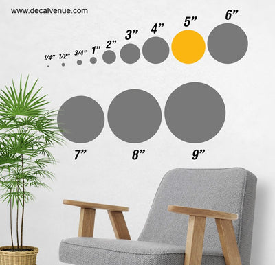 5 inch Polka Dot Circles Wall Decals | Polka Dot Circles | DecalVenue.com