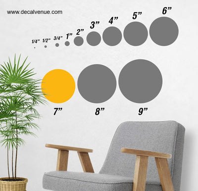 7 inch Polka Dot Circles Wall Decals | Polka Dot Circles | DecalVenue.com