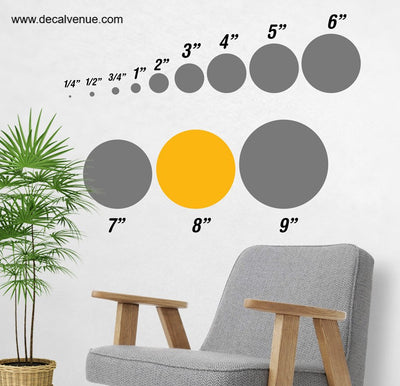 8 inch Polka Dot Circles Wall Decals | Polka Dot Circles | DecalVenue.com