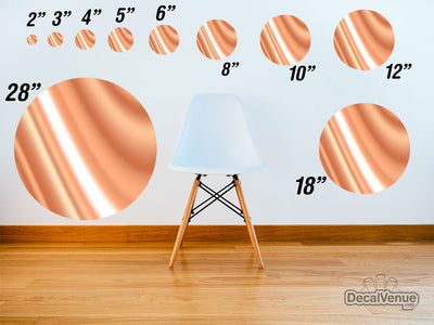 Caramel Cream Pattern Polka Dot Circles Reusable Wall Decals | Shapes & Patterns | DecalVenue.com