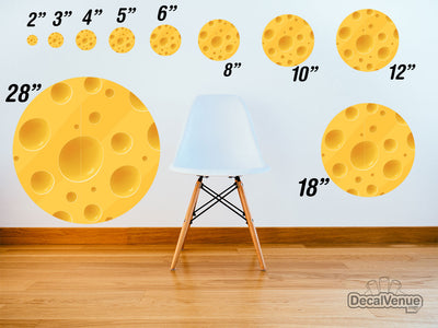 Cheese Pattern Polka Dot Circles Reusable Wall Decals | Shapes & Patterns | DecalVenue.com