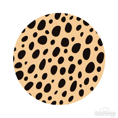 Cheetah Print 002 Pattern Polka Dot Circles Reusable Wall Decals | Shapes & Patterns | DecalVenue.com