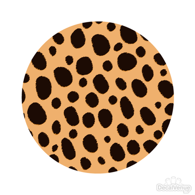 Cheetah Print Pattern Polka Dot Circles Reusable Wall Decals | Shapes & Patterns | DecalVenue.com