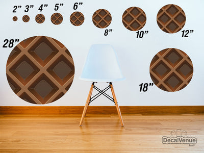 Chocolate Wafer Pattern Polka Dot Circles Reusable Wall Decals | Shapes & Patterns | DecalVenue.com