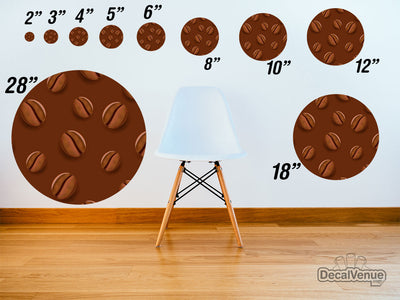 Coffee Beans Pattern Polka Dot Circles Reusable Wall Decals | Shapes & Patterns | DecalVenue.com