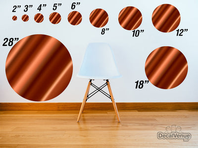Dark Orange Satin Pattern Polka Dot Circles Reusable Wall Decals | Shapes & Patterns | DecalVenue.com