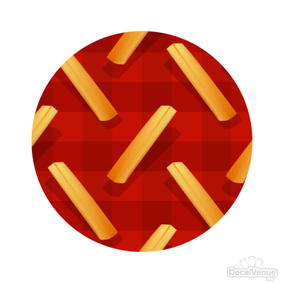 French Fries Pattern Polka Dot Circles Reusable Wall Decals | Shapes & Patterns | DecalVenue.com