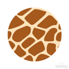 Giraffe Print 002 Pattern Polka Dot Circles Reusable Wall Decals | Shapes & Patterns | DecalVenue.com
