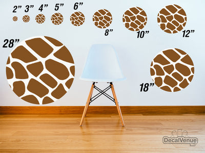 Giraffe Print Pattern Polka Dot Circles Reusable Wall Decals - Shapes & Patterns  / Decal Venue